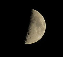 Half-moon In The Night Sky by EvieTuffs