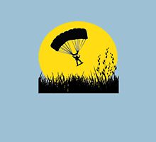 Silhouette - Army Parachute Man Unisex T-Shirt