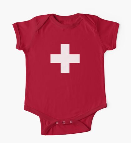Swiss Flag Baby Onesie Jumpsuit Pyjama Clothing - Schweizer Roger Federer Twins One Piece - Short Sleeve