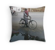 Life turns life a cycle Throw Pillow