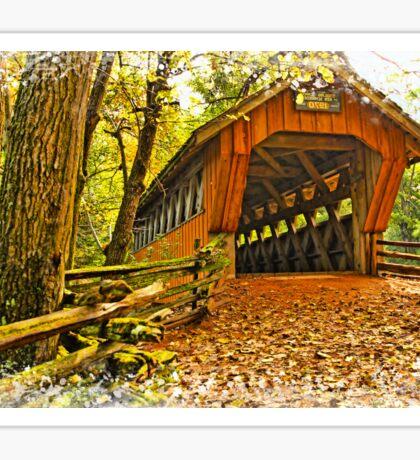 Covered Bridge,Little Hope Wisconsin #2 Sticker