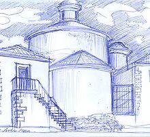 Ermida de Sto. Amaro sketch by terezadelpilar~ art & architecture