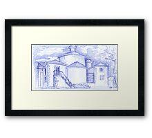 Ermida de Sto. Amaro sketch Framed Print