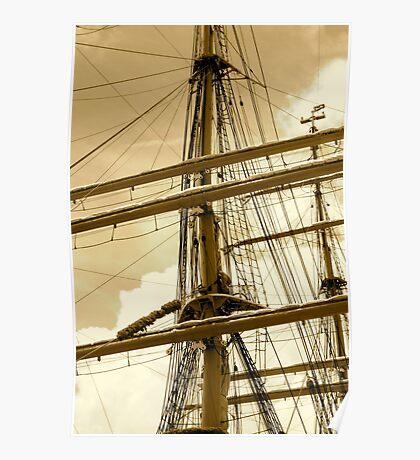Barque Eagle Mast Poster