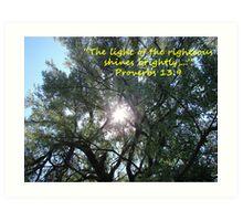 """Proverbs 13:9""  by Carter L. Shepard Art Print"