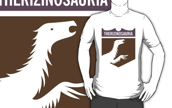 Dinosaur Family Crest: Therizinosauria by David Orr