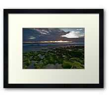 Seaweed Craters Framed Print