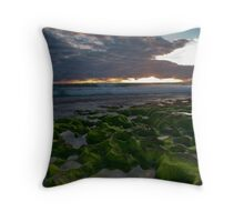Seaweed Craters Throw Pillow