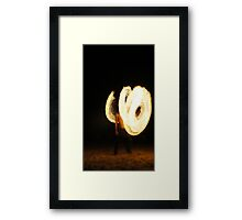 Flame Guy Framed Print