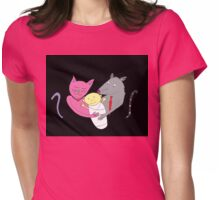 the Cat caught the Rat Womens Fitted T-Shirt