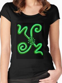 RGB Series - Green 001 Women's Fitted Scoop T-Shirt