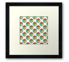 cube pattern Framed Print