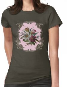 Rococo Flower Womens Fitted T-Shirt
