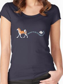 Akita :: Places to Go People to Sniff Women's Fitted Scoop T-Shirt