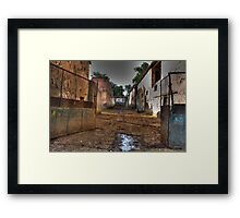 Dirty Alley Framed Print
