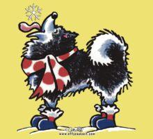 Alaskan Malamute Catch a Snowflake {Kids} Baby Tee