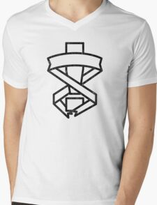 Mgs Exclamation  Mens V-Neck T-Shirt