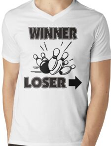 Funny Winner Bowling T-Shirt Mens V-Neck T-Shirt