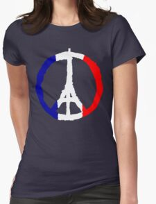 Peace For Paris Womens Fitted T-Shirt