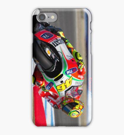 Valentino Rossi at laguna seca 2012 iPhone Case/Skin