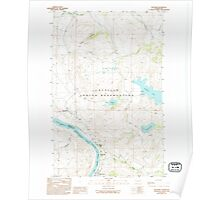 USGS Topo Map Washington State WA Belvedere 240010 1989 24000 Poster