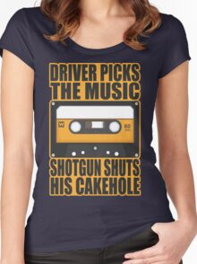 SUPERNATURAL - Driver Picks the Music.. Women's Fitted Scoop T-Shirt