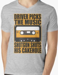 SUPERNATURAL - Driver Picks the Music.. Mens V-Neck T-Shirt