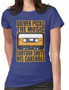 SUPERNATURAL - Driver Picks the Music.. Womens Fitted T-Shirt