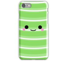 I'm a cute Iphone and I smile [Green] iPhone Case/Skin