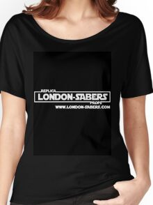 London-Sabers logo Women's Relaxed Fit T-Shirt