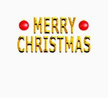 Merry Christmas Gold Unisex T-Shirt