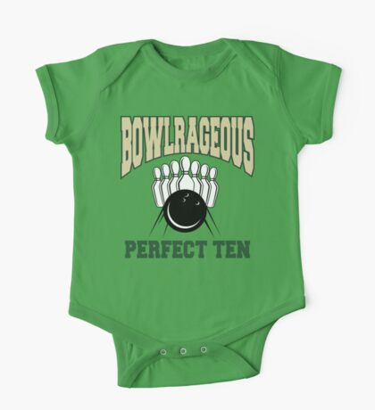 Funny Perfect Ten Bowler Bowling T-Shirt One Piece - Short Sleeve