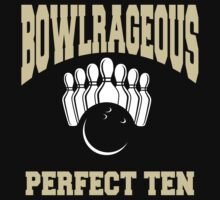 Funny Perfect Ten Women's Bowling T-Shirt Kids Clothes