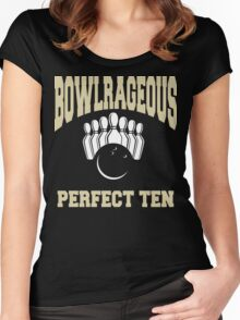 Funny Perfect Ten Women's Bowling T-Shirt Women's Fitted Scoop T-Shirt