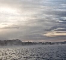 Foggy Sunrise at Lake Burley Griffin in Canberra/ACT/Australia (11) Sticker