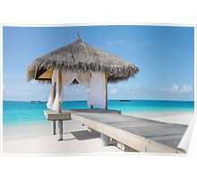 Romantic Hut with Light Ocean Breeze. Maldives  Poster