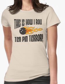 This Is How I Bowl Bowling T-Shirt Womens Fitted T-Shirt