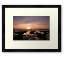 Ko Lanta Fishing Boats Framed Print