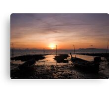 Ko Lanta Fishing Boats Canvas Print