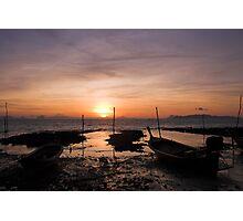 Ko Lanta Fishing Boats Photographic Print