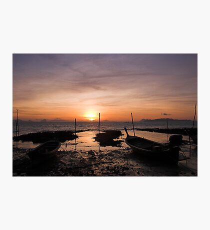 Ko Lanta Fishing Boats Photographic Print