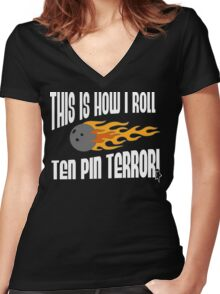 This Is How I Bowl Bowling T-Shirt Women's Fitted V-Neck T-Shirt