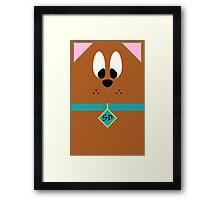 Cartoon Frenzy Scooby Framed Print