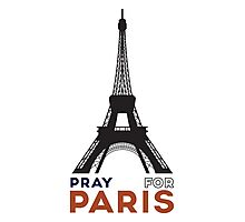 Pray for Paris - Eiffel tower Photographic Print