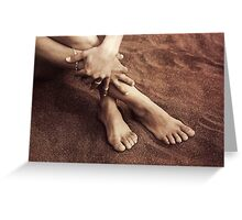 Relaxed in the sand Greeting Card
