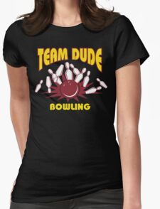 The Dude Bowling T-Shirt Womens Fitted T-Shirt