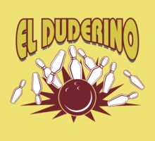 El Duderino Bowling T-Shirt Kids Clothes