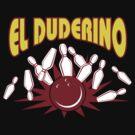 El Duderino Bowling T-Shirt by SportsT-Shirts