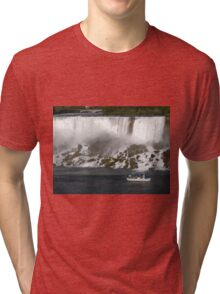 Niagara Falls with Boat Tri-blend T-Shirt
