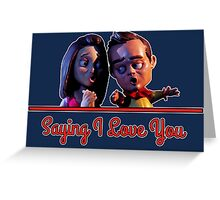 Community - Jeff and Annie Saying I Love You Greeting Card